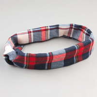 Full Tilt Plaid Headband Red Combo One Size For Women 24241834901