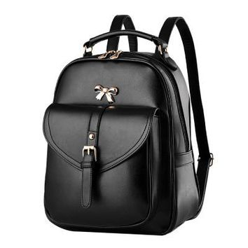 Student Backpack Children black preppy style bow rucksack hotsale women shopping mobile purse bookbags ladies travel ofertas bags student school backpacks AT_49_3
