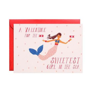 Be My Valentine, Mermaid Card
