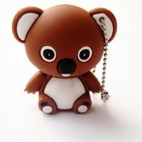 Cute Brown KOALA Bear Animal 4GB USB Flash Drive - in Gift box - with GadgetMe Brands TM Stylus Pen