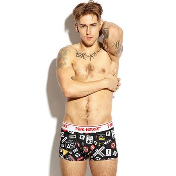Mens Cartoon Underpants Knickers Sexy Men's Boxer Briefs Shorts Underwear Pants
