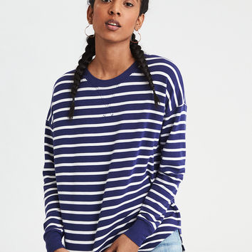 AE Soft & Sexy Long Sleeve Crew, Navy