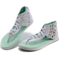 Converse Fashion Women Zipper Sandal Slipper Shoes