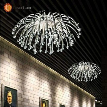 Modern Creative Ceiling Lamps,Silvery/golden plated Acrylic lights For Living Room/Bedroom/Kitchen Room For Decoration(XP-50)