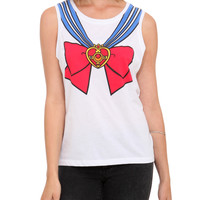 Sailor Moon Uniform Girls Muscle Tank Top