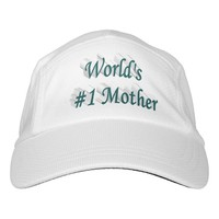 World's #1 Mother 3D Performance Hat, Blue Green Headsweats Hat