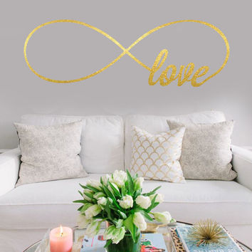 Love Infinity Wall Decal | Infinity Love Wall Decal | Bedroom Wall Decals