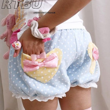 WARM Winter BabyDoll Japan Decora Pastel Polkadot by runnickyrun