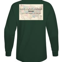 'Travel, Explore, Embrace' Long Sleeve