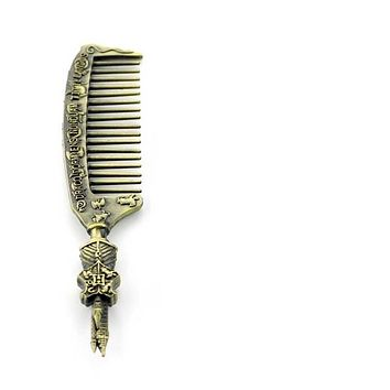Harry Potter Comb - Hogwarts Gryffindor/ Hufflepuff/ Ravenclaw/ Slytherin Metal comb Necklace