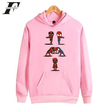 Deadpool Dead pool Taco LUCKYFRIDAYF  Hoodies Men/Women Sweatshirts Pink Fashion Pink Sweatshirt moletom masculino Cartoon Harajuku Sweatshirt AT_70_6