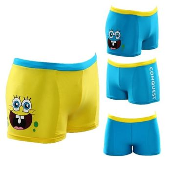 SpongeBob Boys Swim Trunks Children Swimsuit 2016 Newest Kids Swimwear Infant Swimming Trunk Beach Shorts 2-12year swim diaper