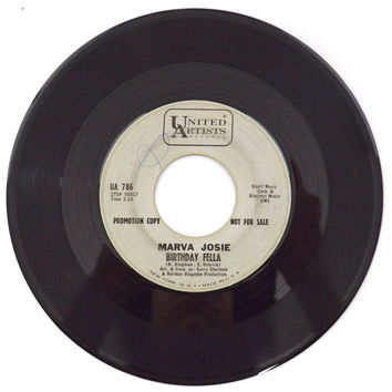 Vintage 60s Marva Josie Birthday Fella Northern Soul Promo 45 RPM Single Record Vinyl