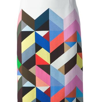 Preen By Thornton Bregazzi Tile Print Pencil Skirt