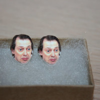 Steve Buscemi Post Stud Earrings Celebrity Jewelry