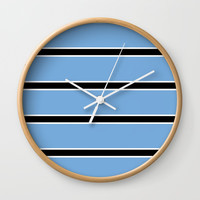 Abstraction from the flag of bostwana-kalahari,gaborone,batswana,motswana,tswana,kalanga Wall Clock by oldking