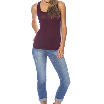 Basic Tank Top - Burgundy