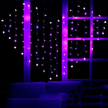 Led Curtian Light string 2x1.5M wedding home decoration light  indoor decor Heart pink green yellow white AC220V LH