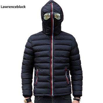 Lawrenceblack Winter Jackets Men Parkas with Glasses Padded Hooded Coat Mens Warm Camperas Children Windproof Quilted Jacket 839