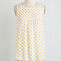 Mid-length Sleeveless Breakfast Nook Club Top by ModCloth