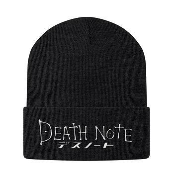 Death Note White Symbol Beanie - PF00327BN