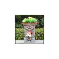 Sintechno Inc Cute Gnome with Tall House Novelty Flower Pot