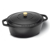 "Black Oval Dutch Oven, L 13"" X W 10 5/8"" X H 4 3/4"""