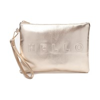 Womens Hello/Goodbye Clutch