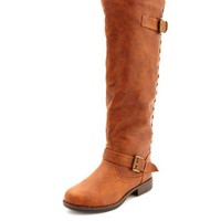 CONTRAST ZIP RIDING BOOT