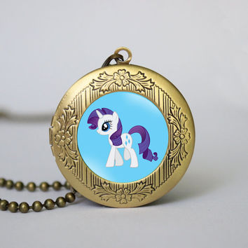 My Little Pony Rarity's vintage pendant locket necklace Rarity's locket necklace girlfriend boyfriend gift Bridesmaid Gift