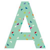 Mint Chip Patterned Letter Wall Decal