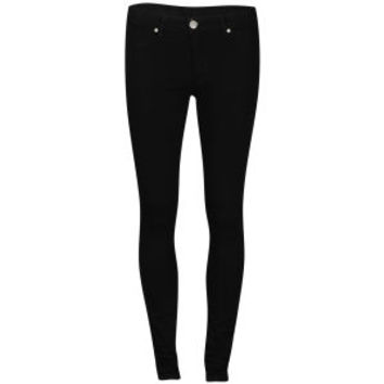 2nd One Women's Black Satin Jeans - Black 			Womens Clothing | TheHut.com
