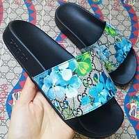 Gucci men and women Fashion Slippers-1