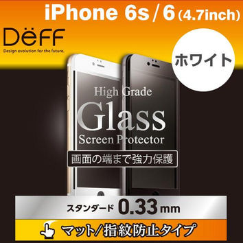 Deff x Asahi High Grade Matte LCD Glass Screen Protector for iPhone 6s / 6 (Full Front / 0.33mm / White)