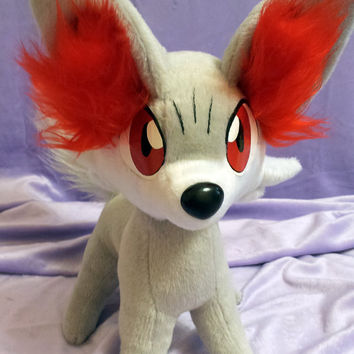 Pokemon X and Y Generation 6 Kalos inspired shiny Fennekin Fokko plushie (36x40 cm) made of minky, super cuddly!