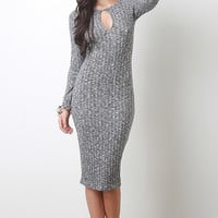 Ribbed Speckle Knit Dress