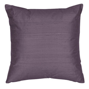 The Silk Group SQ_Dup_Sol_Periwinkle_22x22_CO Periwinkle 22x22-Inch Square Silk Dupioni Luxury Decorative Pillow Cover Only
