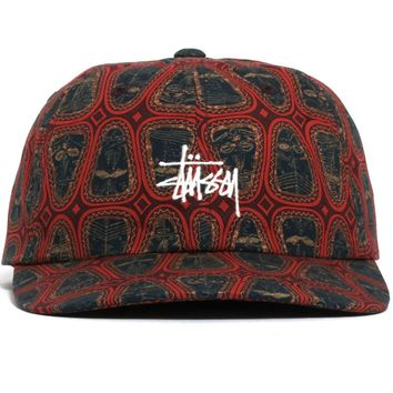 Mask Pattern Low Pro Cap Brown