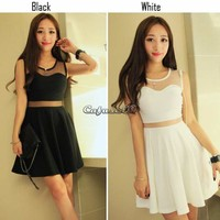 Fashion Women Korean Casual ClubWear Evening Cocktail Mini Vest Tank Dress Skirt