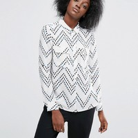 ASOS Chevron Floral Stripe Soft Shirt at asos.com