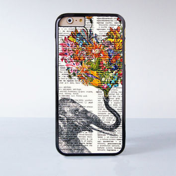 "Elephant Flower plastic phone case for iPhone 6 (4.7"")  More case style can be selected"