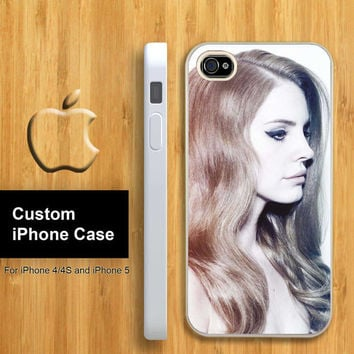 Lana Del Rey Custom Apple Phone Hard Cover Plastic for iPhone 4/4s and Also iphone 5 Case