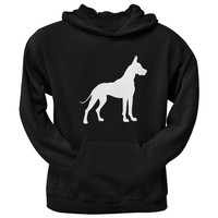 Great Dane Silhouette Black Adult Hoodie