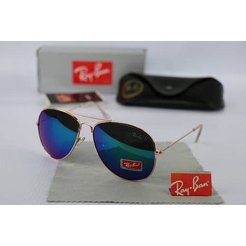 Ray Ban Aviator 3025 9018/C3 58 Med Bronze Rainbow Mirror New Authentic Sunglass