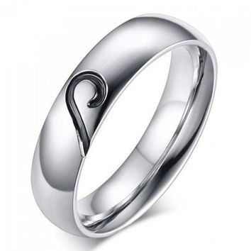 One Piece Love Puzzles Silver Plated Ring
