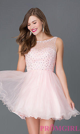Short Babydoll Style Homecoming Dress From Promgirl Com