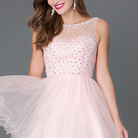 Short Babydoll Style Homecoming Dress 9118