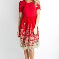 Prospect Dress- Holiday Red