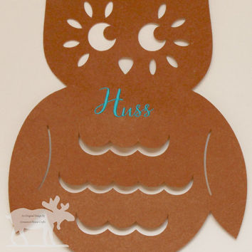Personalized Owl Door Hanger / Owl Door Hanger / Personalized Owl / Owl Hanger / Owl Door Decor / Door Hanger / Owl Decor / Brown Owl Decor