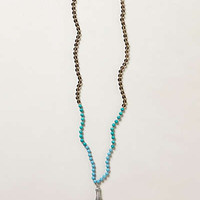 Anthropologie - Beaded Plume Necklace